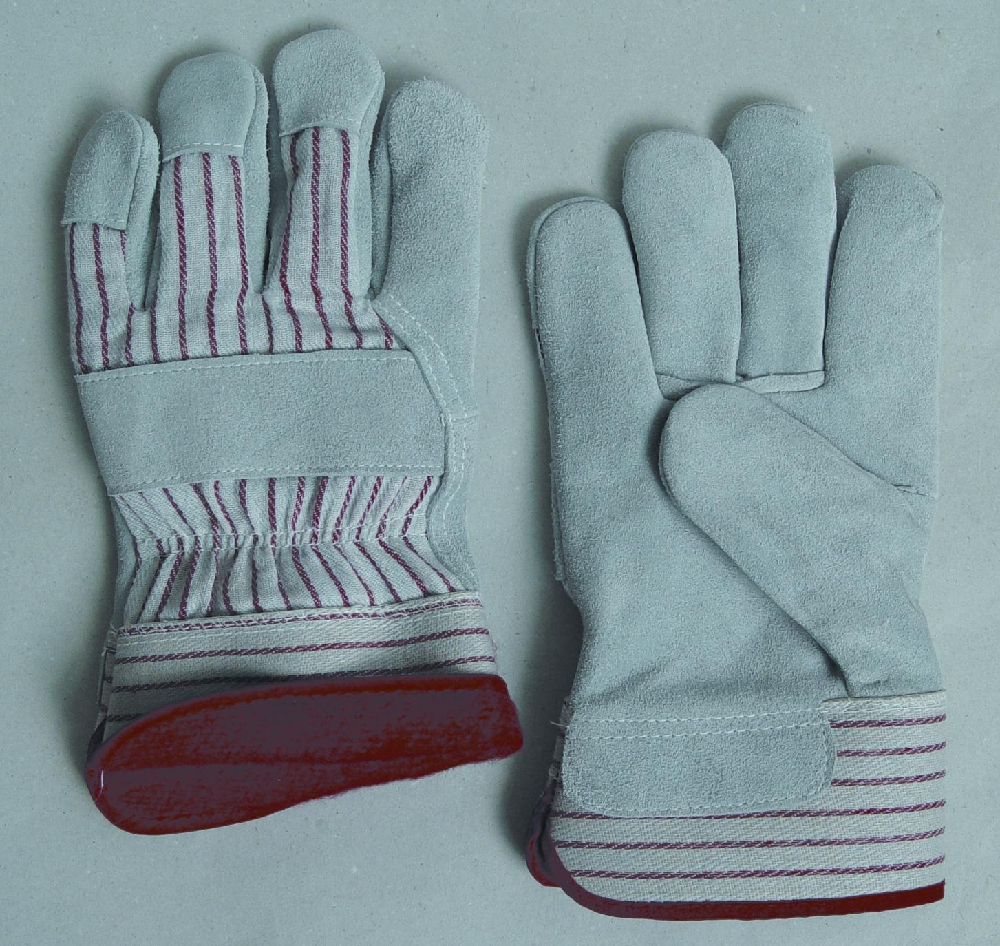 Leather work gloves with wool lining -  603fl Red Fleece Foam Lined Leather Work Gloves Select Shoulder Leather